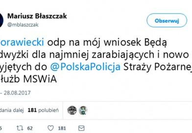 Przewodniczący ZG NSZZ Policjantów pyta Ministra o szczegóły podwyżek.